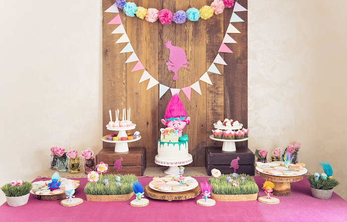 Trolls Inspired Birthday Party on Kara's Party Ideas | KarasPartyIdeas.com (7)