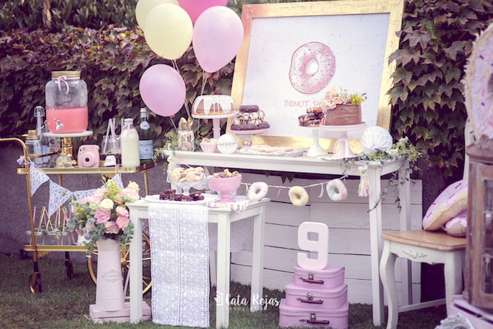 Vintage Donut Shop Birthday Party on Kara's Party Ideas | KarasPartyIdeas.com (25)