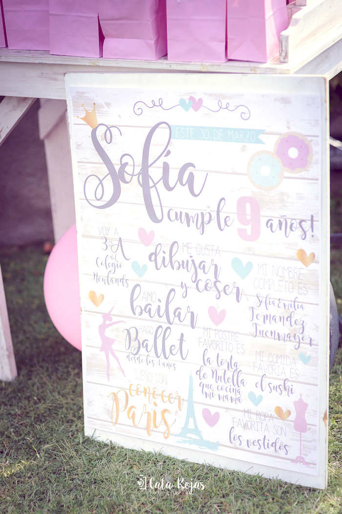 Fact board from a Vintage Donut Shop Birthday Party on Kara's Party Ideas | KarasPartyIdeas.com (24)