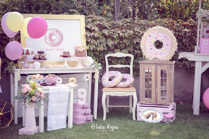 Vintage Donut Shop Birthday Party on Kara's Party Ideas | KarasPartyIdeas.com (22)