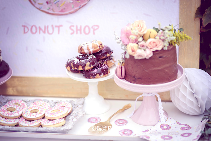 Desserts from a Vintage Donut Shop Birthday Party on Kara's Party Ideas | KarasPartyIdeas.com (21)