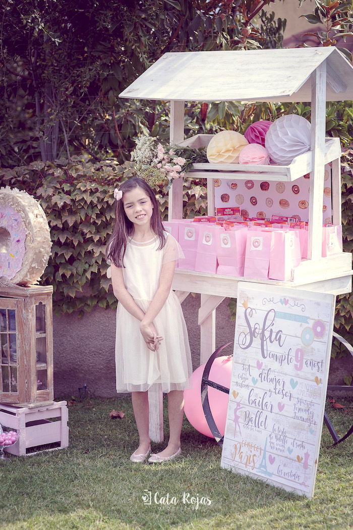 Favor cart from a Vintage Donut Shop Birthday Party on Kara's Party Ideas | KarasPartyIdeas.com (37)