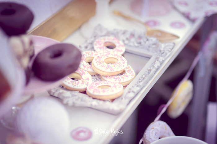 Donut sugar cookies from a Vintage Donut Shop Birthday Party on Kara's Party Ideas | KarasPartyIdeas.com (7)