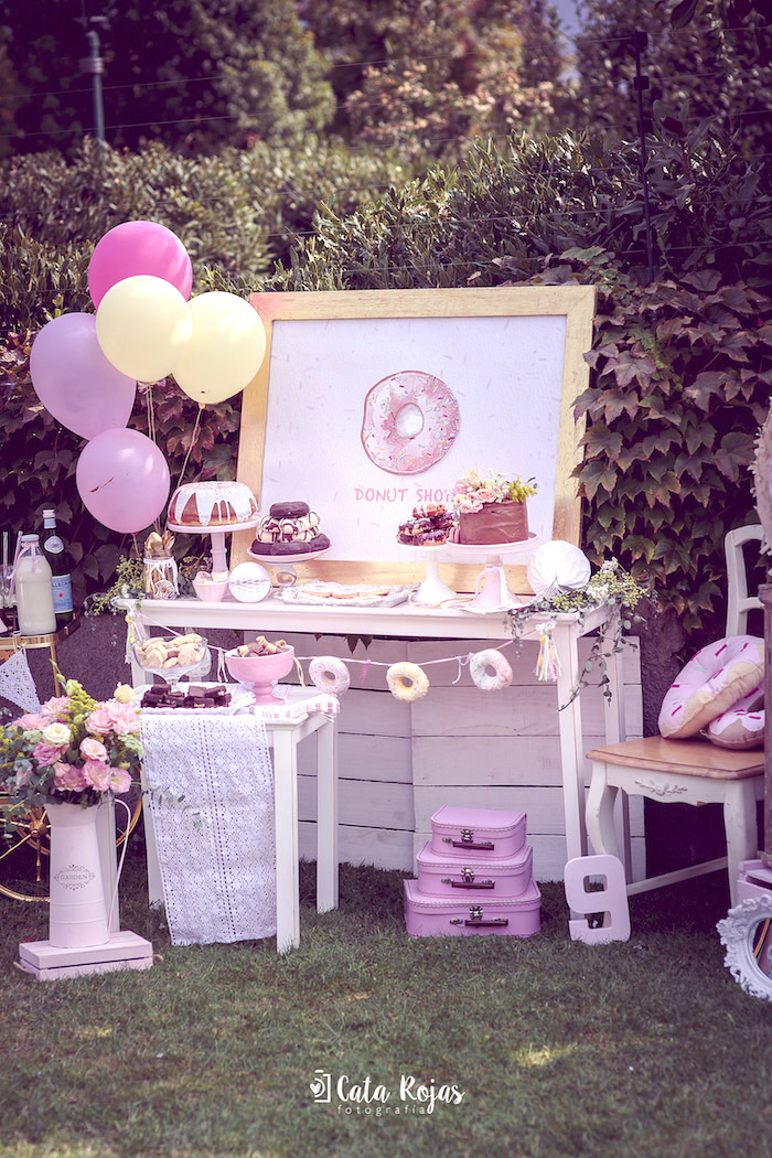 Kara S Party Ideas Vintage Donut Shop Birthday Party