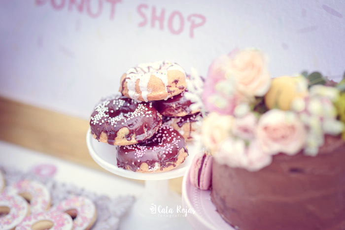 Donuts from a Vintage Donut Shop Birthday Party on Kara's Party Ideas | KarasPartyIdeas.com (33)