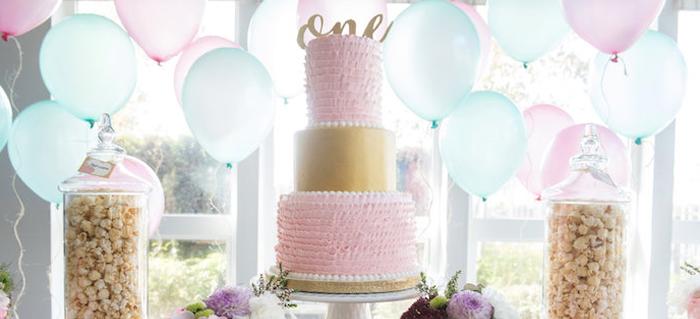 Vintage First Birthday Tea Party on Kara's Party Ideas | KarasPartyIdeas.com (1)