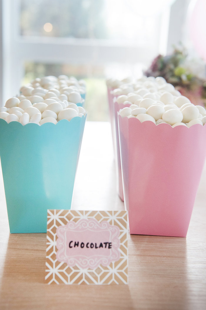 Chocolate from a Vintage First Birthday Tea Party on Kara's Party Ideas | KarasPartyIdeas.com (19)