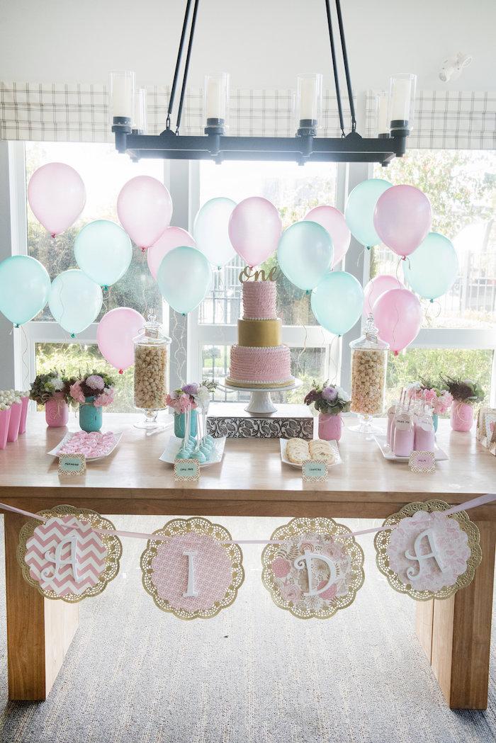 Vintage First Birthday Tea Party on Kara's Party Ideas   KarasPartyIdeas.com (12)