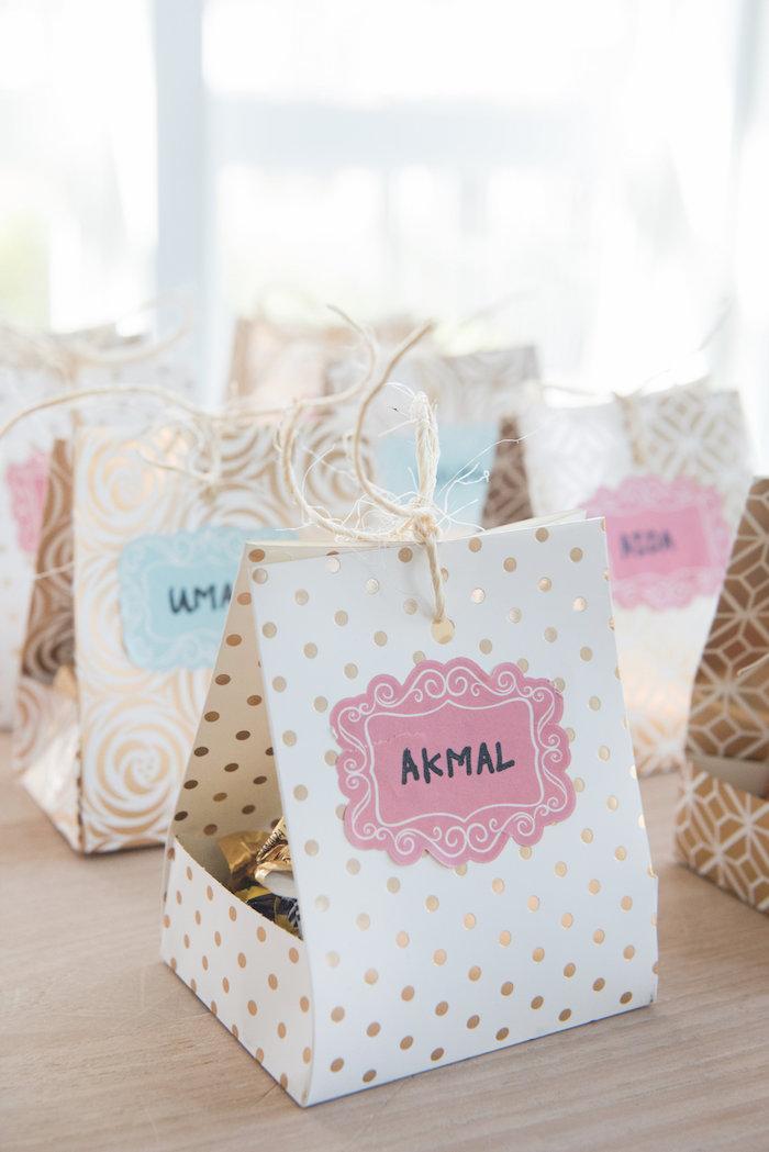 Favor bag box from a Vintage First Birthday Tea Party on Kara's Party Ideas   KarasPartyIdeas.com (11)