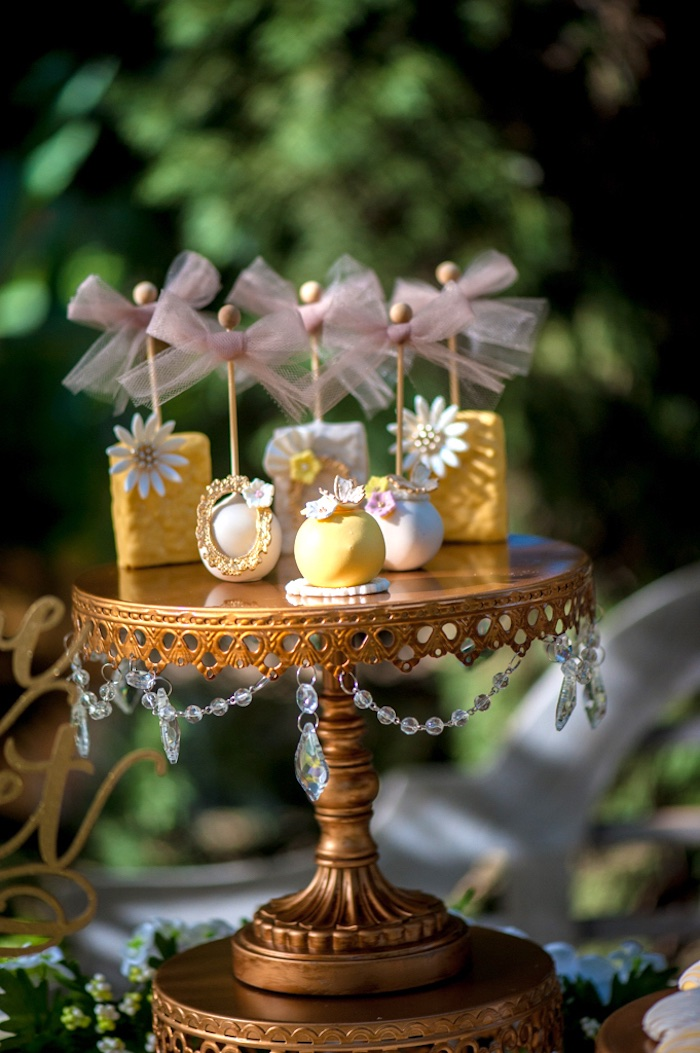 Cake pops and rice crispy treats from a Vintage Garden Party on Kara's Party Ideas | KarasPartyIdeas.com (8)