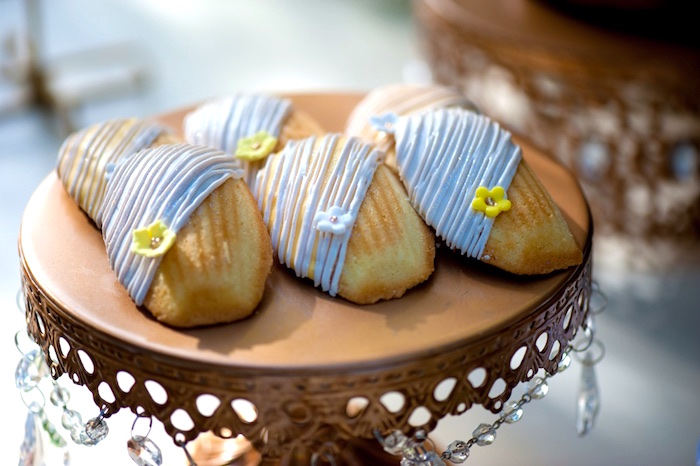 Madeleine Cookies from a Vintage Garden Party on Kara's Party Ideas | KarasPartyIdeas.com (7)