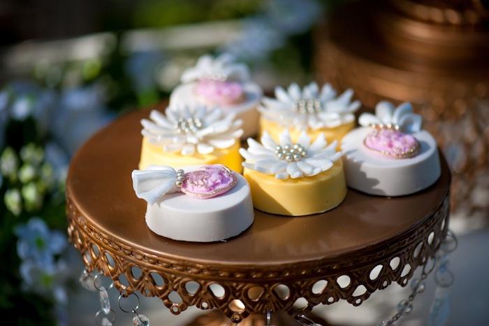 Chocolate covered flower Oreos from a Vintage Garden Party on Kara's Party Ideas | KarasPartyIdeas.com (15)