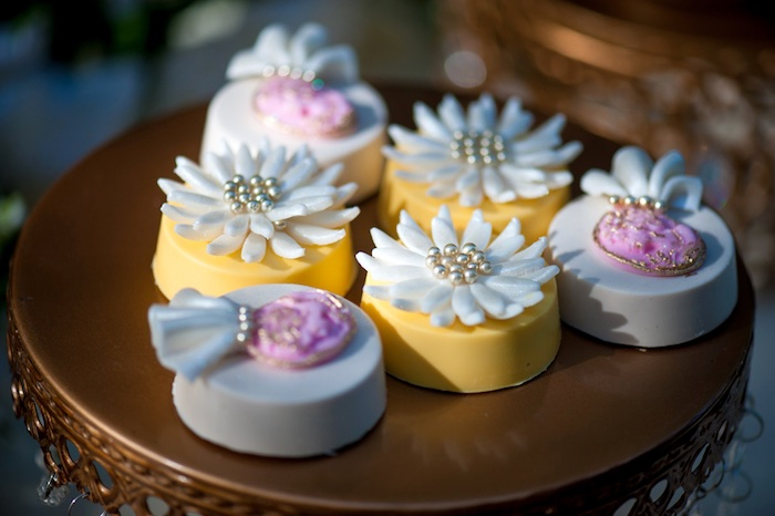 Flower topped Oreos from a Vintage Garden Party on Kara's Party Ideas | KarasPartyIdeas.com (13)