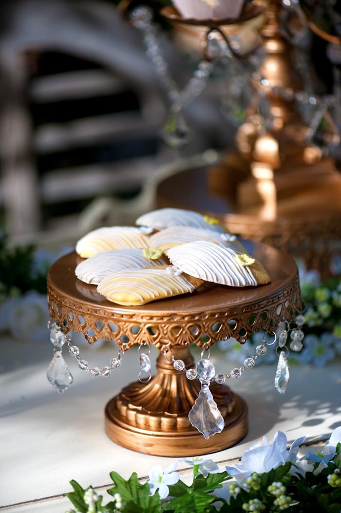 Madeleine Cookies from a Vintage Garden Party on Kara's Party Ideas | KarasPartyIdeas.com (9)