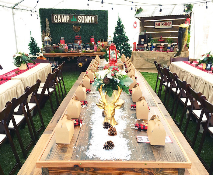 Winter Camping Themed Birthday Party on Kara's Party Ideas | KarasPartyIdeas.com (3)