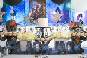 "Cake table from a ""Guardians of the Galaxy"" Birthday Party on Kara's Party Ideas 