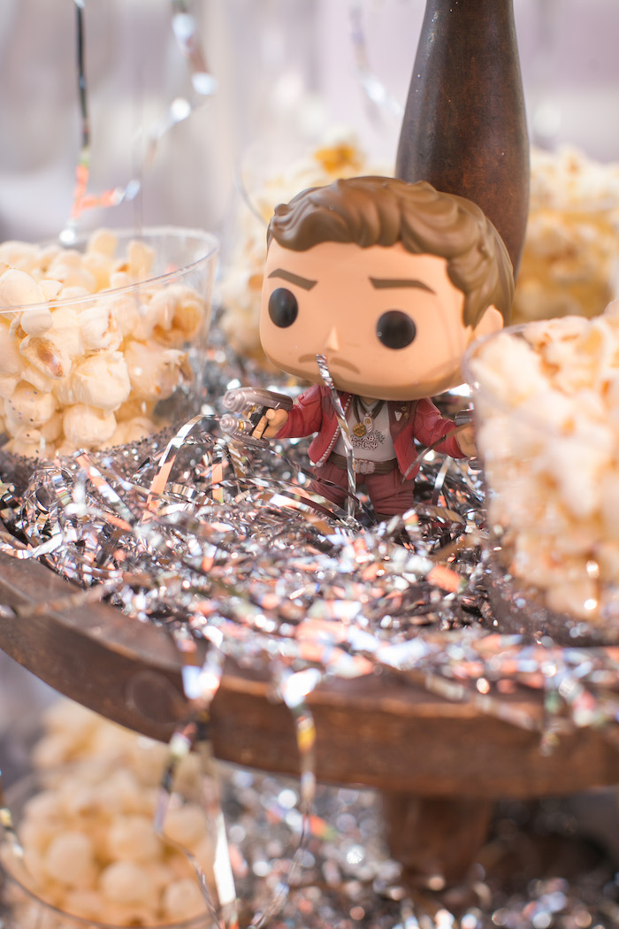 "Quill figurine from a ""Guardians of the Galaxy"" Birthday Party on Kara's Party Ideas 