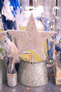 """Silver star beverage dispenser from a """"Guardians of the Galaxy"""" Birthday Party on Kara's Party Ideas 
