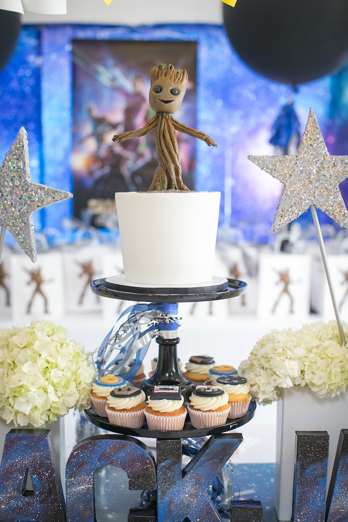 "Groot Cake from a ""Guardians of the Galaxy"" Birthday Party on Kara's Party Ideas 