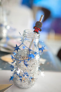 "Galaxy drink bottle from a ""Guardians of the Galaxy"" Birthday Party on Kara's Party Ideas 