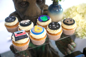 """Cupcakes from a """"Guardians of the Galaxy"""" Birthday Party on Kara's Party Ideas 