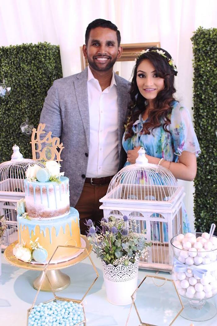 """Cakescape from a """"Oh Baby"""" Boy Baby Shower on Kara's Party Ideas 