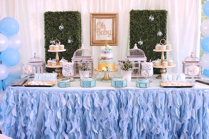 Dessert Table Spread From A Oh Baby Boy Shower On Kara S Party Ideas