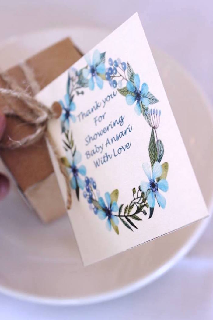 """Favor tag from a """"Oh Baby"""" Boy Baby Shower on Kara's Party Ideas 