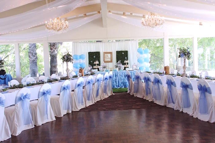 """Partyscape from a """"Oh Baby"""" Boy Baby Shower on Kara's Party Ideas 