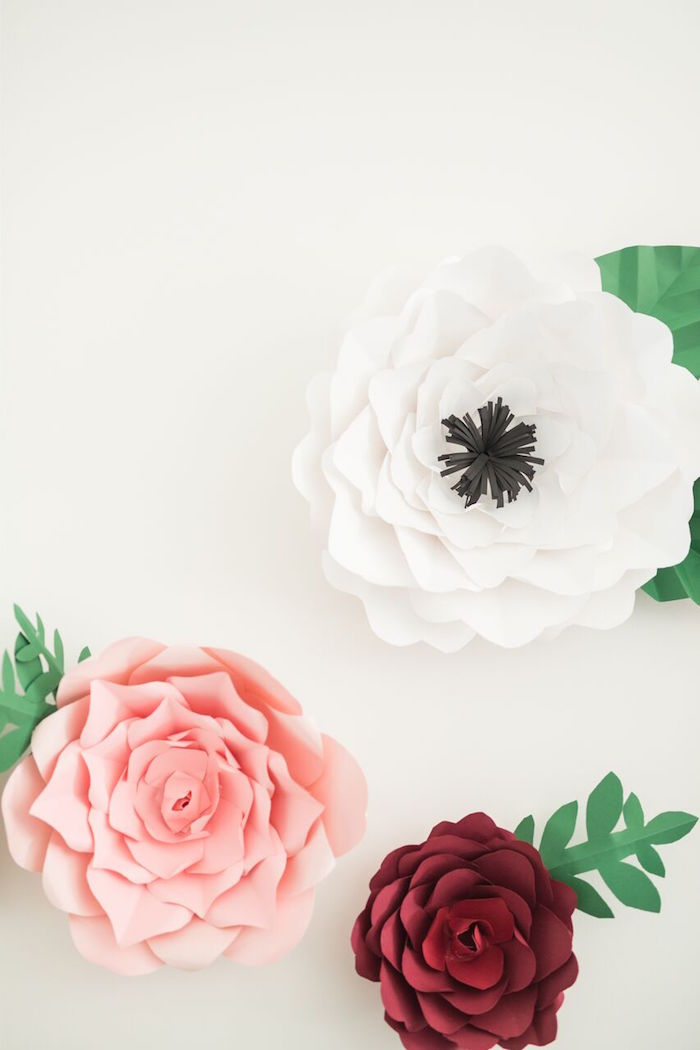 "Paper flowers from ""The Bachelor"" Viewing Party on Kara's Party Ideas 