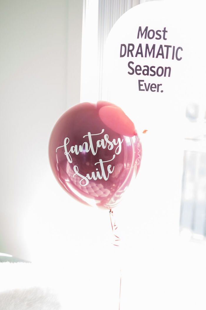 "Bachelor themed balloons from ""The Bachelor"" Viewing Party on Kara's Party Ideas 