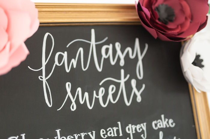 "Fantasy Sweets board from ""The Bachelor"" Viewing Party on Kara's Party Ideas 