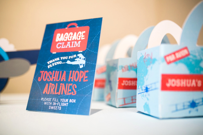 "Baggage claim print from a ""Time Flies"" Airplane Birthday Party on Kara's Party Ideas 