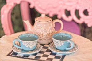 Tea kettle and cups from an Alice in Wonderland Birthday Party on Kara's Party Ideas | KarasPartyIdeas.com (6)