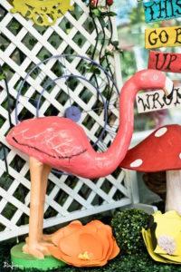 Flamingo decoration from an Alice in Wonderland Birthday Party on Kara's Party Ideas   KarasPartyIdeas.com (29)