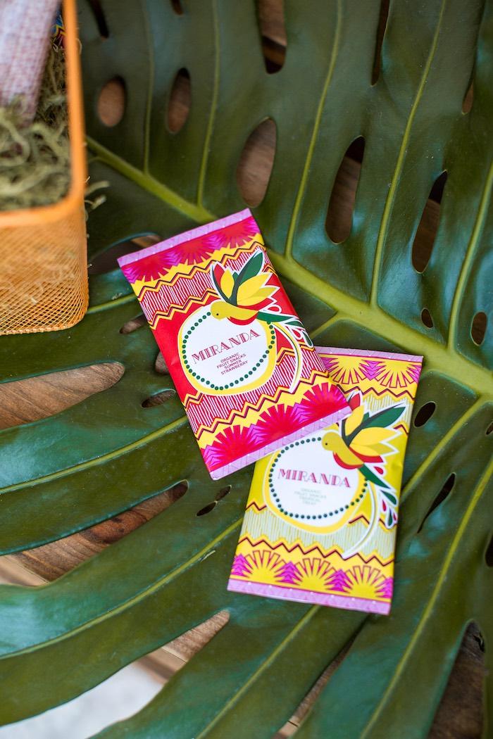 Organic fruit snacks from an American Girl Doll Lea Clark - Rainforest Birthday Party on Kara's Party Ideas   KarasPartyIdeas.com (41)