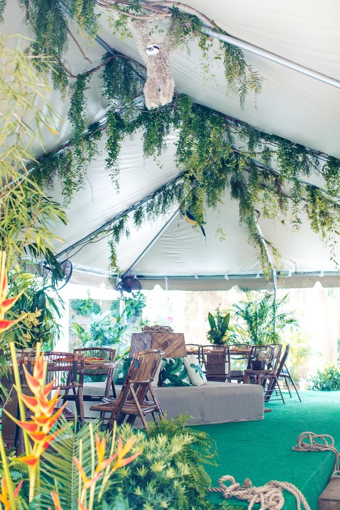 Tentscape from an American Girl Doll Lea Clark - Rainforest Birthday Party on Kara's Party Ideas   KarasPartyIdeas.com (39)