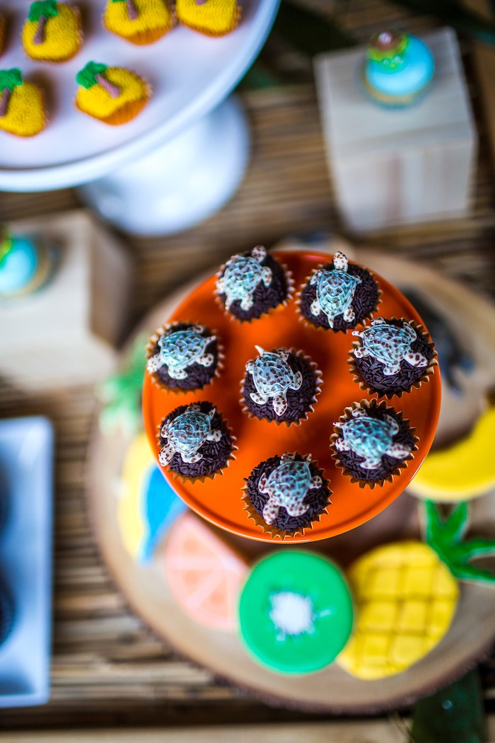 Turtle brigadeiros from an American Girl Doll Lea Clark - Rainforest Birthday Party on Kara's Party Ideas | KarasPartyIdeas.com (31)