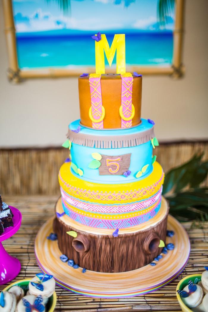 Birthday cake from an American Girl Doll Lea Clark - Rainforest Birthday Party on Kara's Party Ideas   KarasPartyIdeas.com (25)
