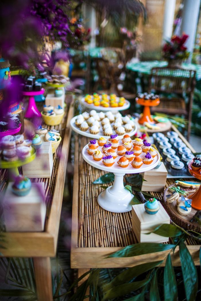 Sweet table from an American Girl Doll Lea Clark - Rainforest Birthday Party on Kara's Party Ideas   KarasPartyIdeas.com (23)