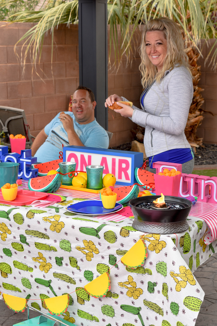 Kara S Party Ideas Backyard Pool Party Bbq With Tiki Brand Kara S Party Ideas