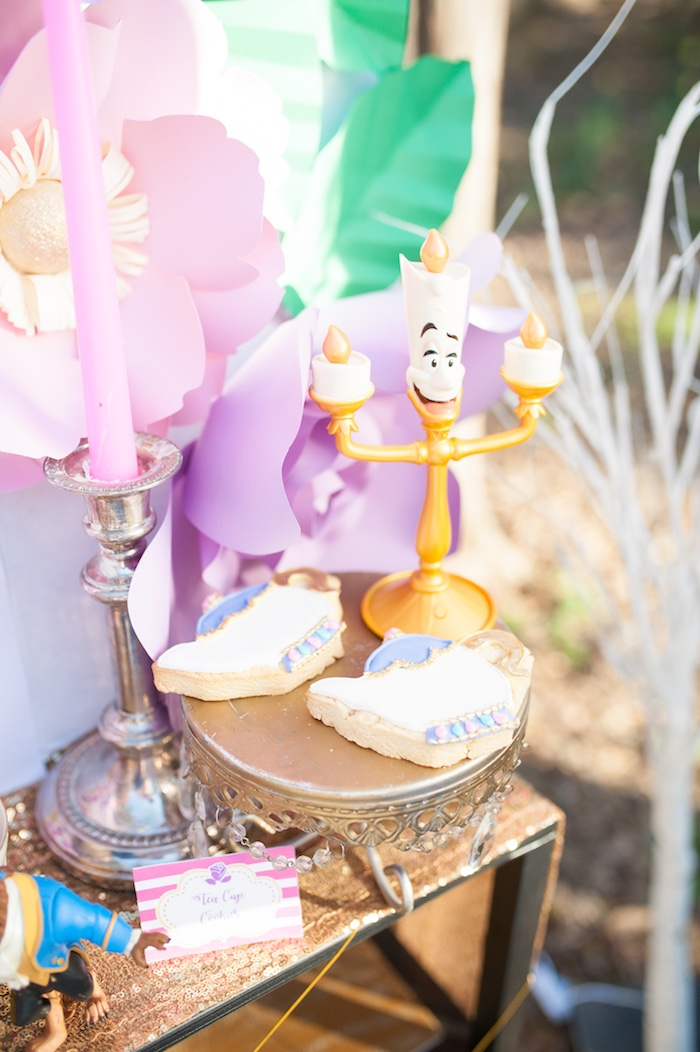 Lumiere & Mrs. Potts Sugar Cookies from a Beauty and the Beast Garden Party on Kara's Party Ideas | KarasPartyIdeas.com (23)