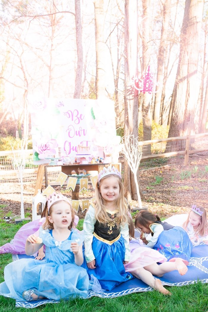 Pretty princesses from a Beauty and the Beast Garden Party on Kara's Party Ideas | KarasPartyIdeas.com (16)