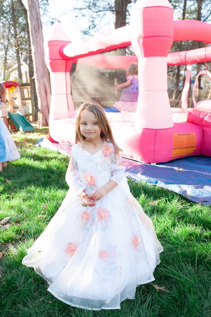 Beauty and a bounce house from a Beauty and the Beast Garden Party on Kara's Party Ideas | KarasPartyIdeas.com (15)