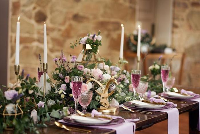 Dining table from a Boho Outdoor Wedding on Kara's Party Ideas | KarasPartyIdeas.com (10)