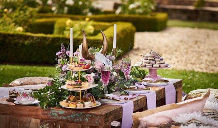 Dining table from a Boho Outdoor Wedding on Kara's Party Ideas | KarasPartyIdeas.com (23)