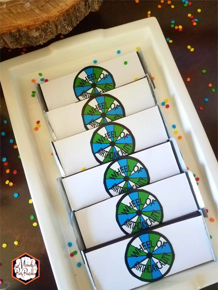 Candy Bars from Good Mythical Morning Inspired Birthday Party via Mandy's Party Printables via Kara's Party Ideas
