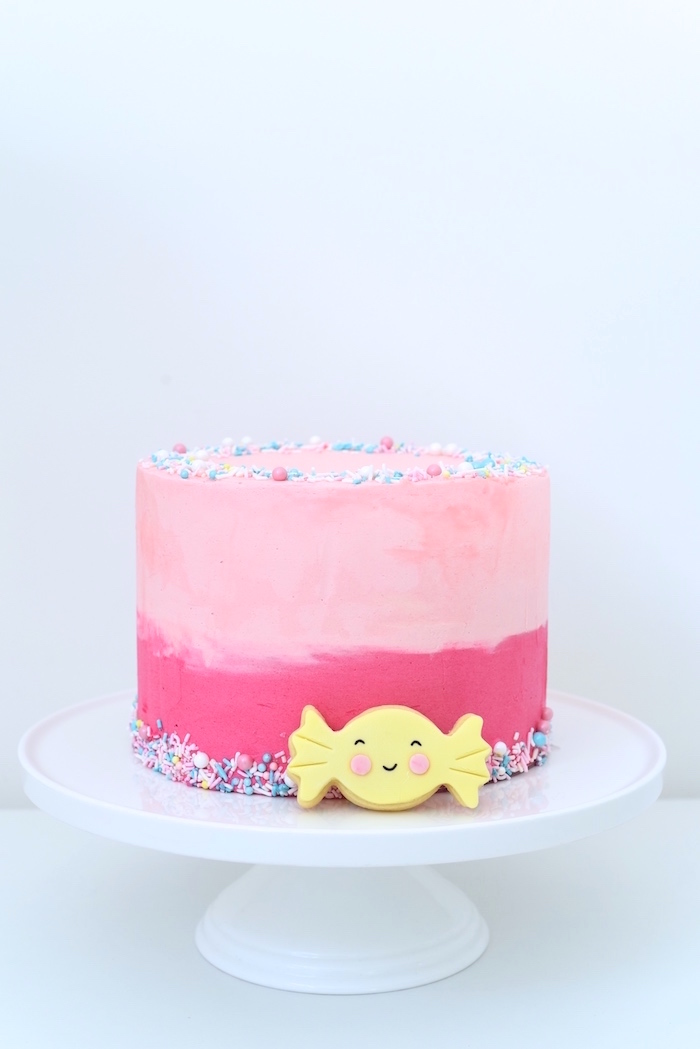 Pink ombre cake from a Candy Parade Birthday Party on Kara's Party Ideas | KarasPartyIdeas.com (19)
