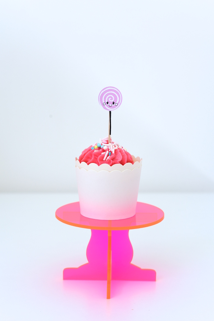 Cupcake from a Candy Parade Birthday Party on Kara's Party Ideas | KarasPartyIdeas.com (17)