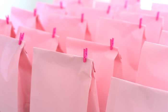 Pink favor sacks from a Candy Parade Birthday Party on Kara's Party Ideas | KarasPartyIdeas.com (13)